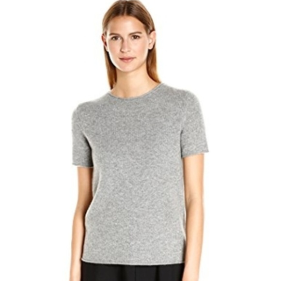 d61e398f7c7 Theory Tops | Tolleree Shortsleeve Cashmere Sweater S | Poshmark